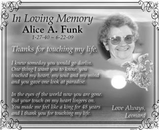 Alice A. Funk
