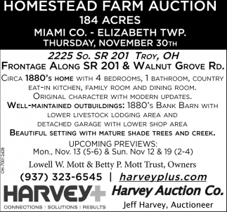 Homestead Farm Auction