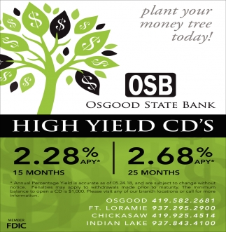 High Yield CD's