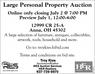 Large Personal Property Auction