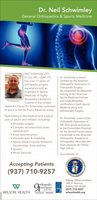 Dr. Neil Schwimley General Orthopedics & Sports Medicine