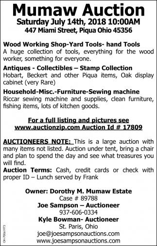 Mumaw Auction
