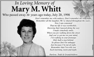 Mary M. Whitt