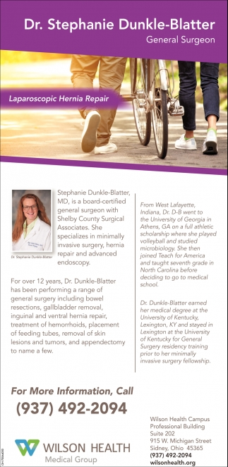 Dr. Stephanie Dunkle-Blatter, General Surgeon