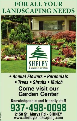 Annual, Perennials, Trees, Shrubs, Mulch