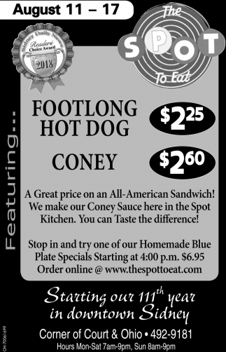 Footlong Hot Dog Coney