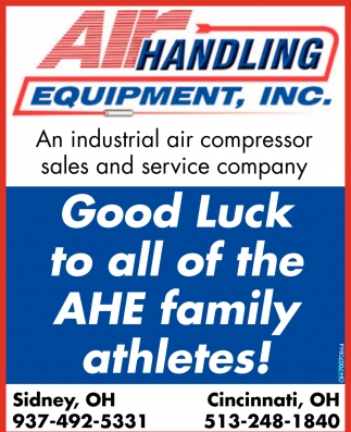 Good Luck to all of the AHE family athletes!