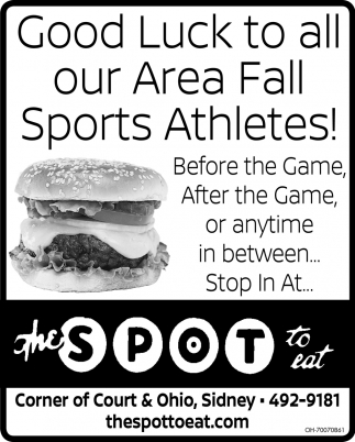 Good Luck to all our Area Fall Sports Athletes!