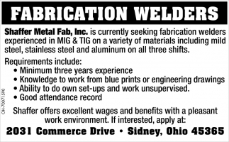 Fabrication Welders