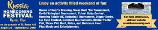 Enjoy an activity filled weekend of fun