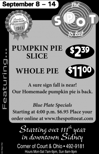 Pumpkin Pie / Whole Pie