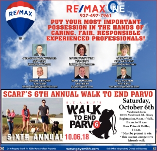 Scarf's 6th Annual Walk to end Parvo