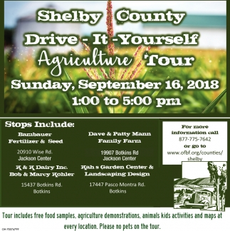 Shelby County Drive-It-Yourself Agriculture Tour