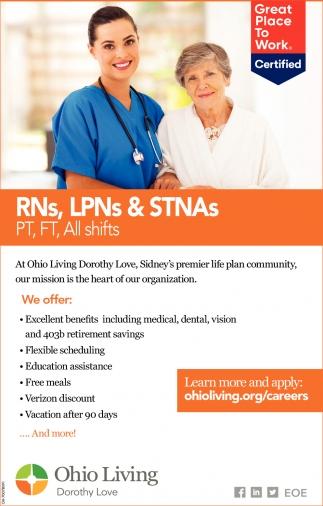 RNs, LPNs & STNAs