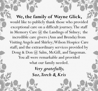 Family of Wayne Glick