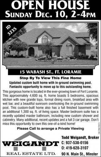 12 Wabash St., ft. Loramie