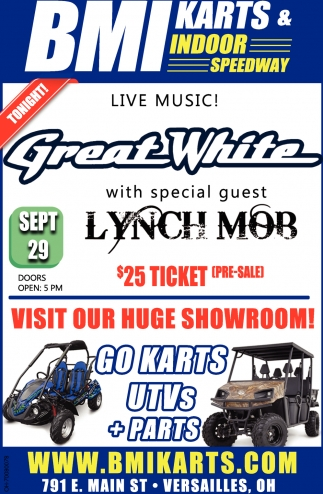 Great White with special guest Lynch Mor