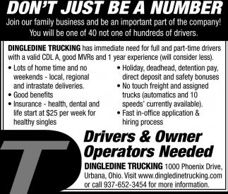 Drivers & Owner Operators