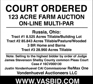 123 Acre Farm Auction