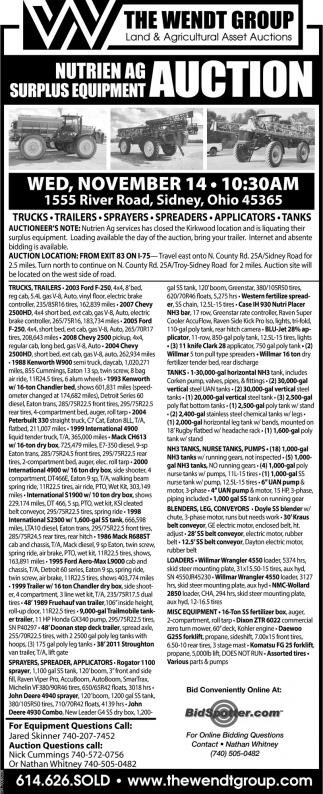 Nutrien AG Surplus Equipment Auction
