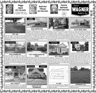 Properties for sale, Emerson Wagner Realty, Sidney, OH