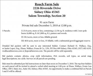 Roach Farm Sale