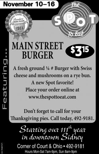 Main Street Burger