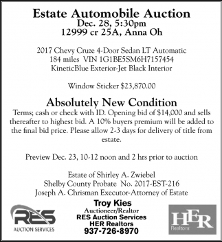 Estate Automobile Auction