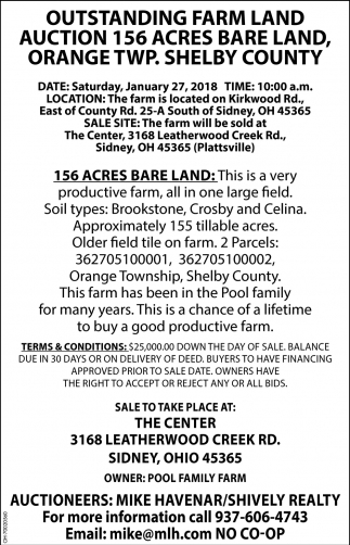 Outstanding Farm Land Auction