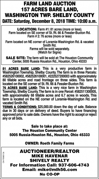 Farm Land Auction