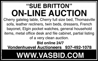 Sue Britton On-Line Auction