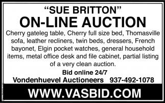 Sue Britton On-Line Auction