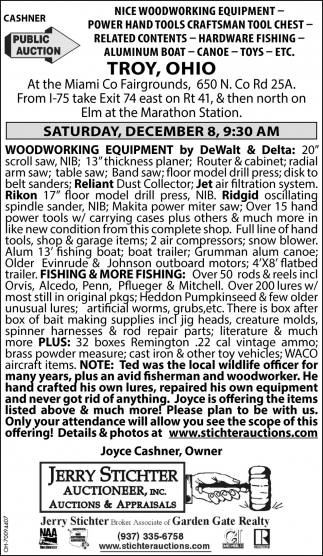 Woodworking Equipment, Tools, Fishing, Boat