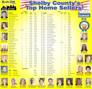 Shelby County's Top Home Sellers!