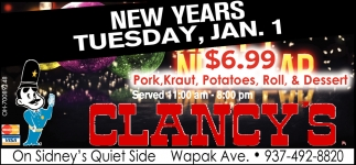 New Years, tuesday, Jan. 1