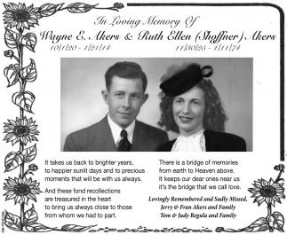 Wayne E. Akers & Ruth Ellen Shoffner Akers