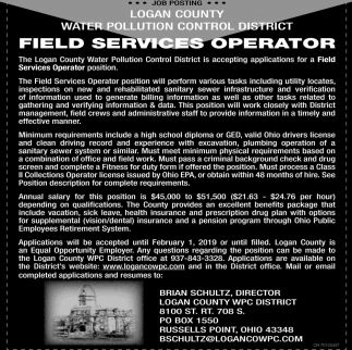 Field Services Operator