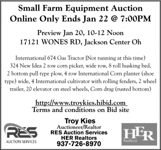 Small Farm Equipment AUction