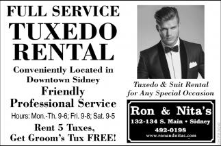 Full Service Tuxedo Rental