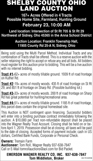Shelby County Ohio Land Auction