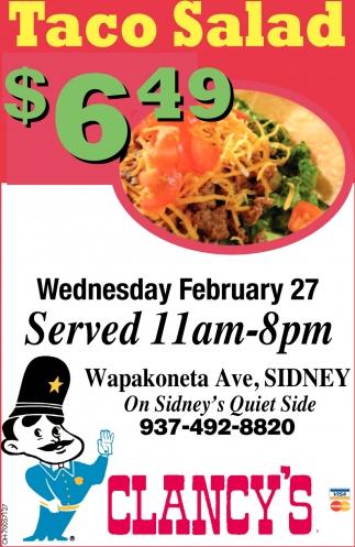 Taco Salad $6.49