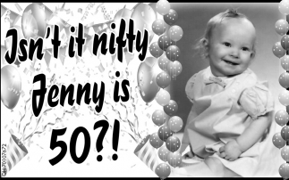 Happy 50th Jenny