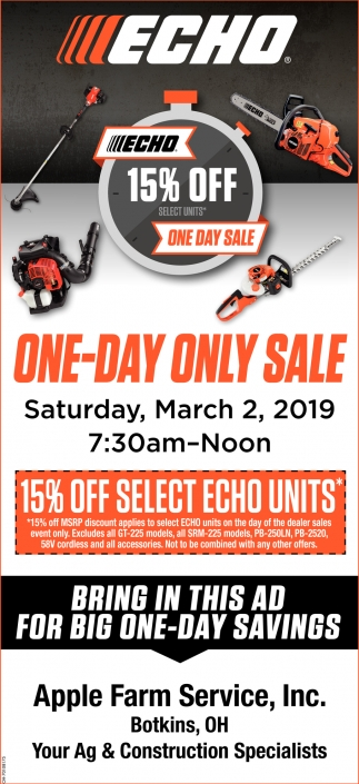 Echo 15% Off - One Day Sale