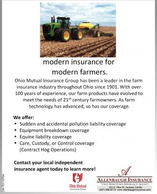 Modern insurance for modern farmers