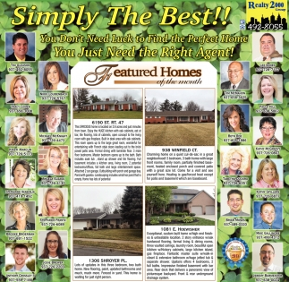 Featured Homes of the Month
