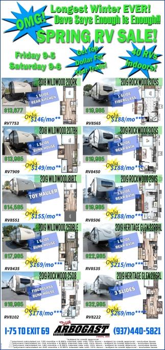 Spring RV Sale!