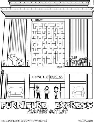 factory outlet, furniture express, sidney, oh