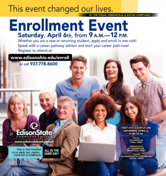 Enrollment Event - April 6th