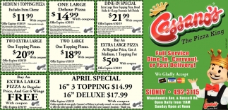 Full Service - Dine-In, Carryout, or East Delivery