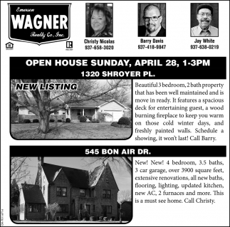 Open House - 1320 Shroyer Pl.